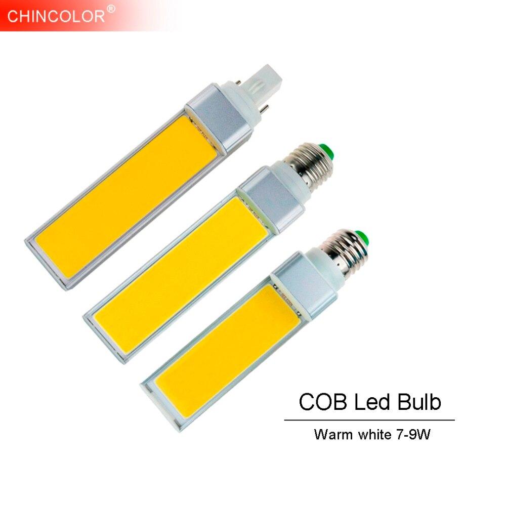 E27 <font><b>Led</b></font> Bulb Corn Bulb Lamp E14 <font><b>G24</b></font> G23 7W-12W Warm white Emitting Light 110V 220V Horizontal Plug Light <font><b>COB</b></font> Spotlight TR