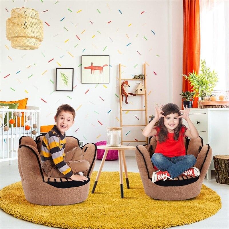 Cinq doigts Baseball gant en forme d'enfants canapé enfants chaise soignée bouffée peau bambin enfants couverture pour canapé meilleurs cadeaux