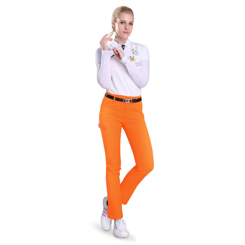 Female Golf Trousers Girls Slim Stretch Women Pants Summer Sports Pants Can Insert Glof Ball TEE Authentic 4 Color
