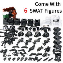 DIY SWAT Team Action Figures Military Soldier Mini Dolls Accessory Toys City Building Blocks Part Toys Compatible with LegoED 12pcs lot action figures building blocks figures brick diy toys compatible legoed figures police soldier occupations for gift