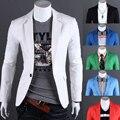 Nueva Moda Hombre Slim Fit Traje Un Botón Casual Blazers Chaqueta de La Capa 052