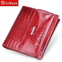 DICIHAYA, женские кошельки из натуральной кожи, мини-кошелек, женский короткий клатч, роскошный женский кошелек, кошельки для монет, держатель для карт, сумка для монет