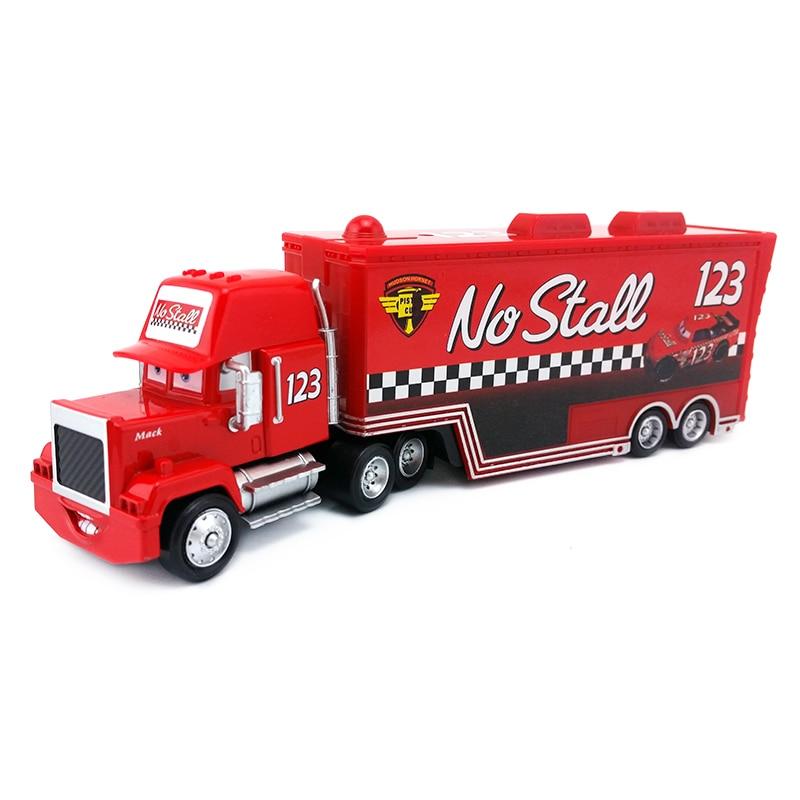 Disney Cars Mack Racer/'s Hauler Truck /& Racers Toy Car 1:55 Kids Gift New