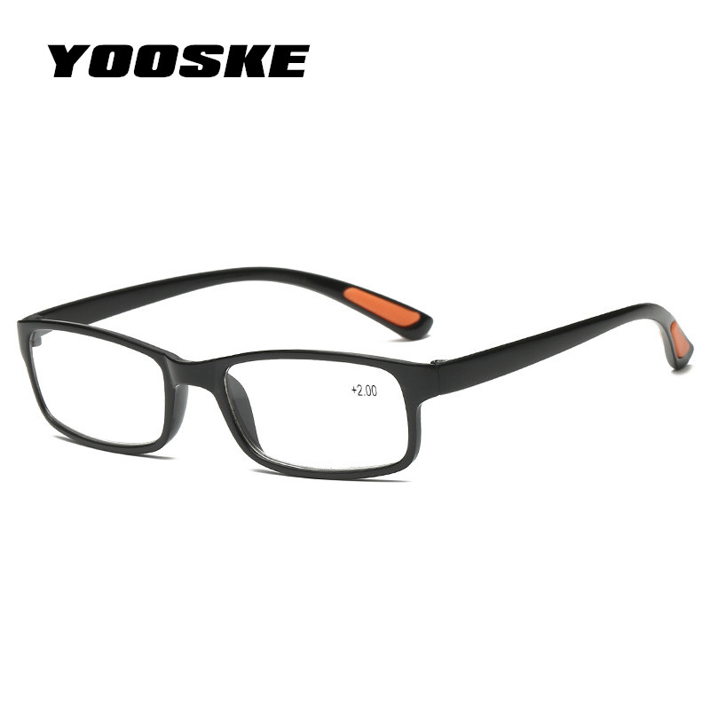 YOOSKE Women Men Reading Glasses Toughness TR90 ultra-light Resin Material For Female Male Reading Presbyopic Glasses 1