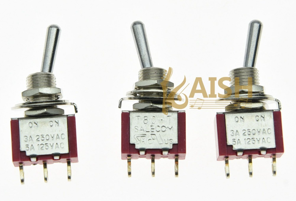 5x SPDT 2 Position ON ON Guitar Mini Toggle Switch SALECOM UL Car Boat Switches