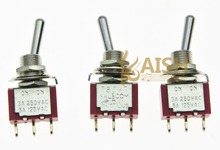 5x SPDT 2-Position ON ON Guitar Mini Toggle Switch SALECOM UL Car/Boat Switches