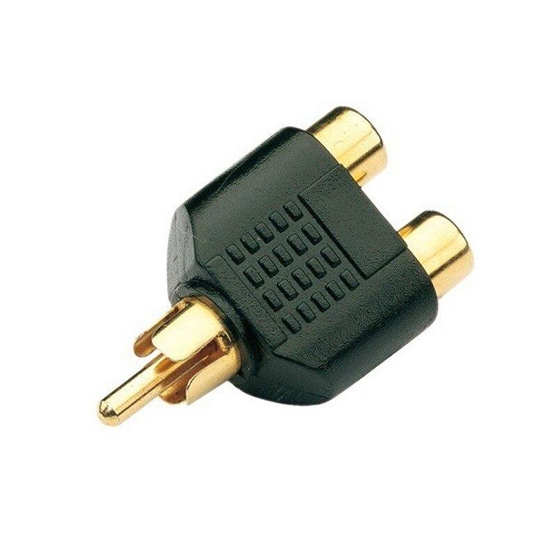 50 1 Phono Splitter/Joiner Adapter 2 RCA Sockets Plug AV Audio Video Y Splitter Adaptor - EUSTAK OfficialFlagship Store store