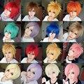 Mcoser горячая! 16 цветов новинка 30 см короткие аниме косплей парики полный ну вечеринку парик нью-лолита парик