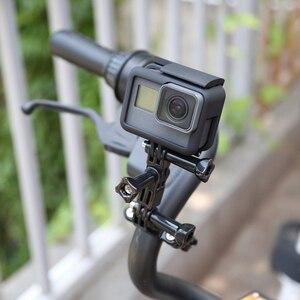 Image 5 - Bắn 3 Cách Trục Cánh Tay Xe Đạp Kẹp Tay Cầm Seatpost Cực Giá Đỡ Gắn Cho GoPro 9 8 7 6 5 Xiaomi yi 4K Sjcam Eken Phụ Kiện