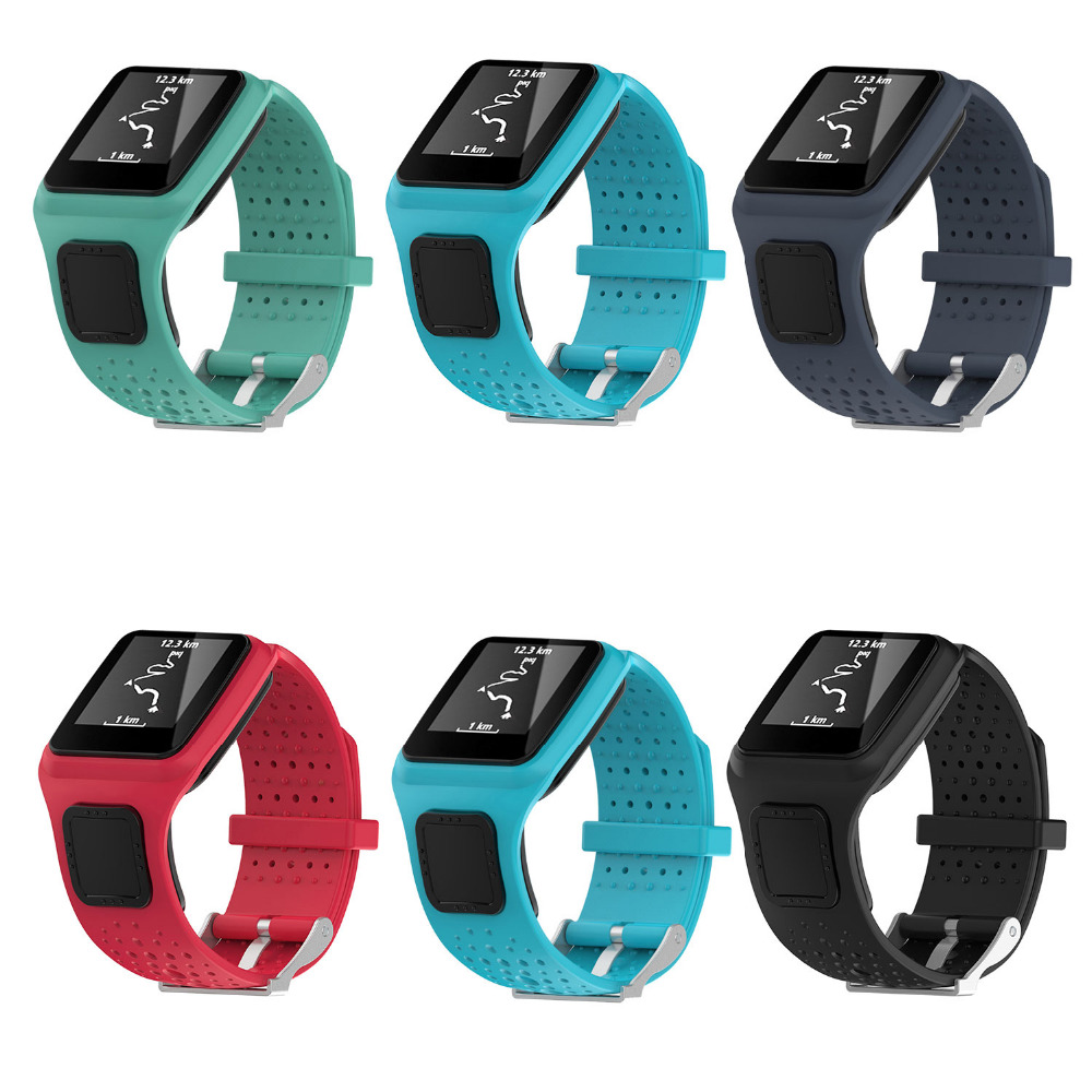 Band For TomTom 1  Multi-Sport GPS HRM CSS AM Cardio Runner Watch Silicone Soft Strap Bracelet Wristband