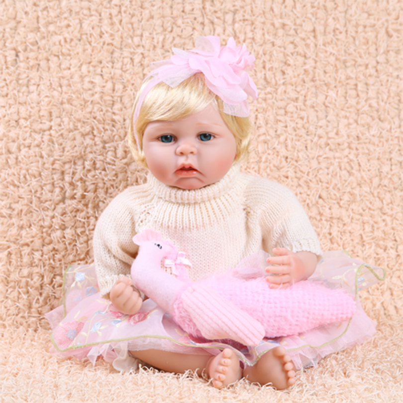 New Silicone Reborn Dolls Cotton Body Baby House Play Partner Doll Reborn Babies Brinquedos Gift For Girls Children's Toy  2016 new 1pcs lot bedroom furnitures for barbie dolls monster hight dolls for baby girls play house toys girls baby t03022