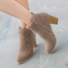 Oeak Women Boots Flock Lock Ankle Autunm Women
