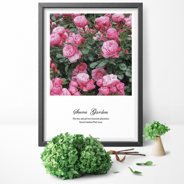 Nordic Wall Art Pictures Pink Roses Flowers Love Quotes Canvas Extraordinary Flower Love Quotes