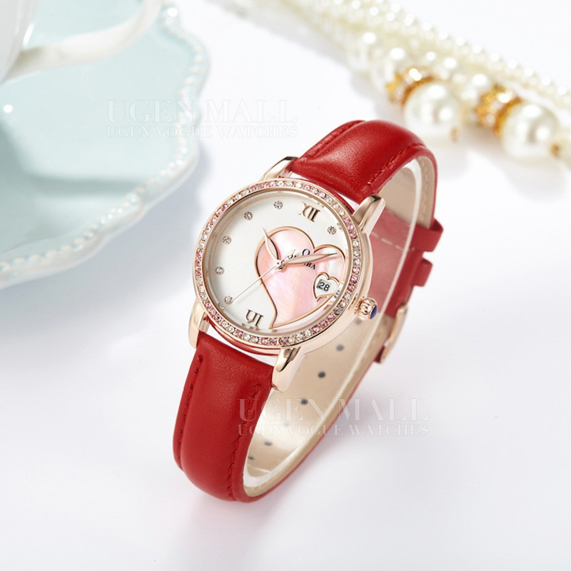 New High Quality Women Top Brand Luxury Genuine Leather Strap Rhinestone Waterproof Quartz Dress Classic Fashion Casual watch high quality fashion dial genuine leather strap top sale quartz watch women and men dress wristwatch personality