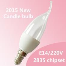Wholesale led bulb E14 2835SMD 3w led candle light bulb led lamp Warm White/Cool White AC220V-240V Chandelier Spotlight