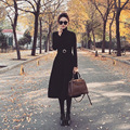 Versão da versão européia do estilo francês fashion dress hepburn fivela de ouro grande high-end do vintage uma linha dress