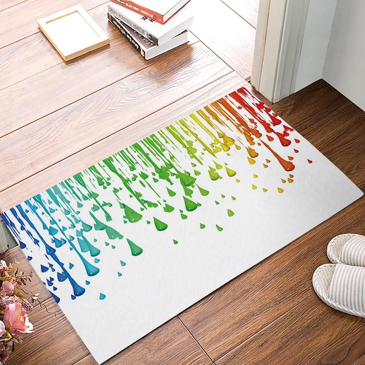 Contemporary Art Modern Colorful Water Drops Door Mats Indoor Kitchen Floor Bathroom Entrance Rug Mat Carpets Home Decor Mat Aliexpress