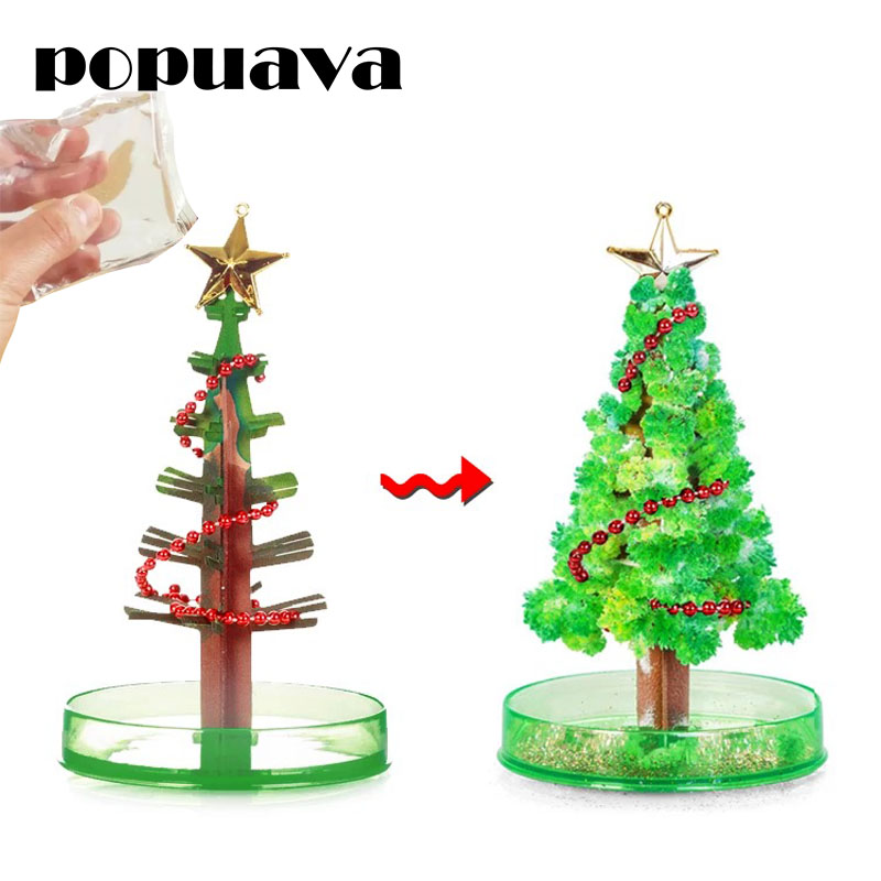Magic will bloom on the Christmas tree, creative tabletop pressure relief gifts for boy girl friends and childrens surprise toy