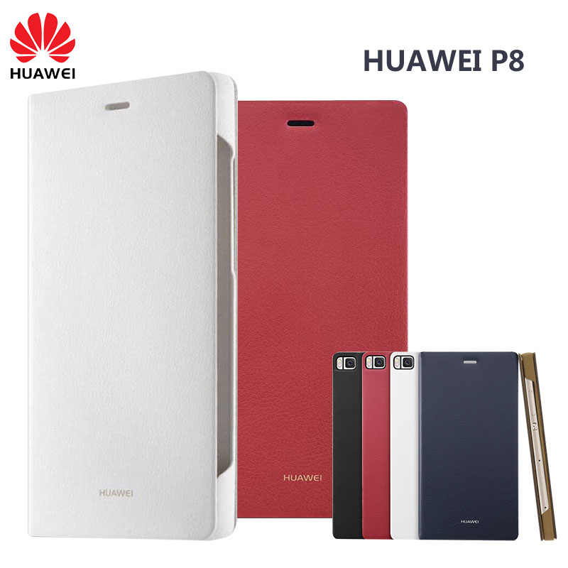 Original Huawei P8 Case Official High Quality Phone Flip Leather Wallet Huawei Ascend P8 Standard edition 5.2 inch Phone Cover