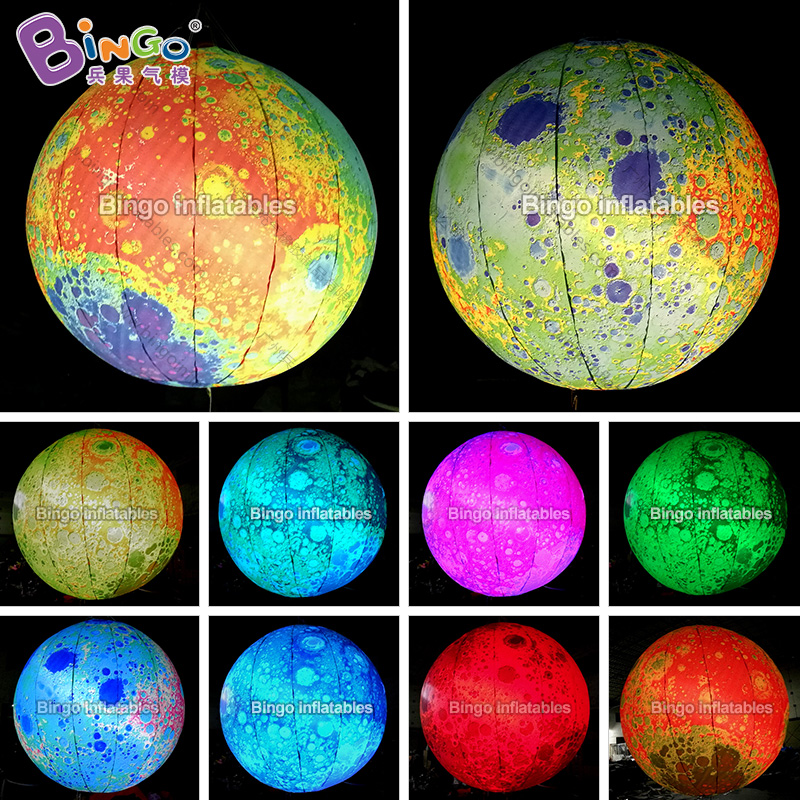 6m/8m/10m 2017 Hot sale giant inflatable moon, inflatable moon ball, moon balloon for events/party/stage decoration with light