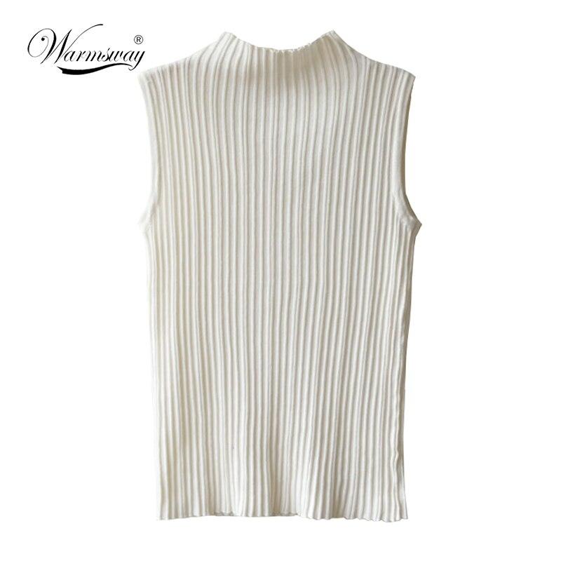 Womens Polo Turtle High Neck Ladies Sleeveless Plain Bodycon Vest T Shirt Top
