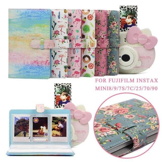 96 กระเป๋า PU หนัง Instant Photo Album สำหรับ Case Fujifilm Instax Mini8/9/7 s/7C /25/70/90 3 นิ้ว Mini ฟิล์ม Photo Album