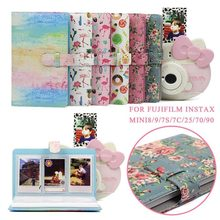 96 Pockets PU Leather Instant Photo Album Picture Case for Fujifilm Instax Mini8/9/7s/7C/25/70/90 3 inch Mini Film Photo Album(China)