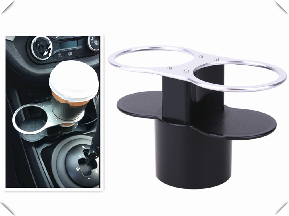 Double Hole Car Accessories Cup Holder / Beverage Rack Mounting For Mercedes Benz W211 W203 W204 W210 W124 AMG W202