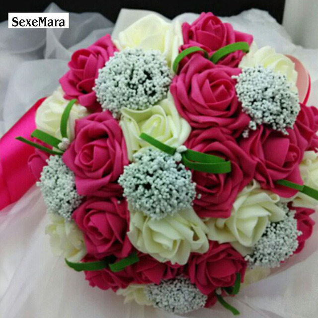 Bouquet Hotsale Artificial Foam Flowers Roses For Wedding Arrangement Bridal Hot Selling Bouquets