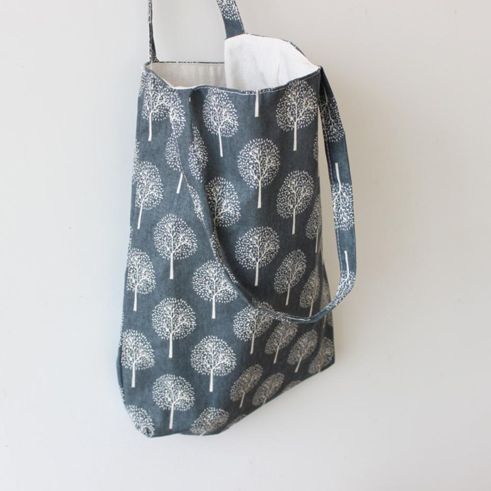 Women Shoulder Bag Floral Printed Canvas Shopping Bag Beach Handbag Casual Tote For Ladies Large Capacity
