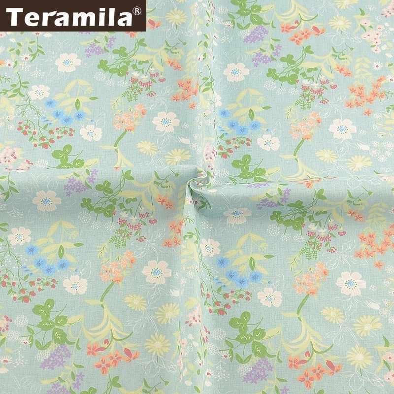 Teramila 100% Cotton Fabric Meters Flowers Telas Algodon Ankara Fabric DIY Tissus Dress Patchwork Quilts Beedsheet Cushion Baby