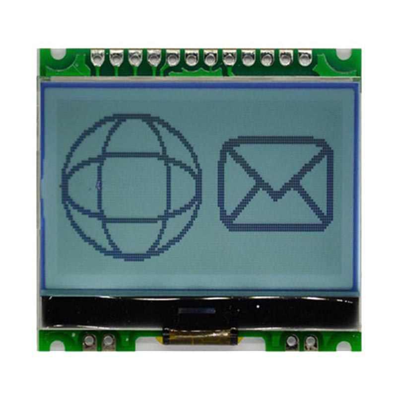 12864 ドットマトリックスモジュール 12864G-086-P 液晶、収入とバックライト COG 5 ボルト