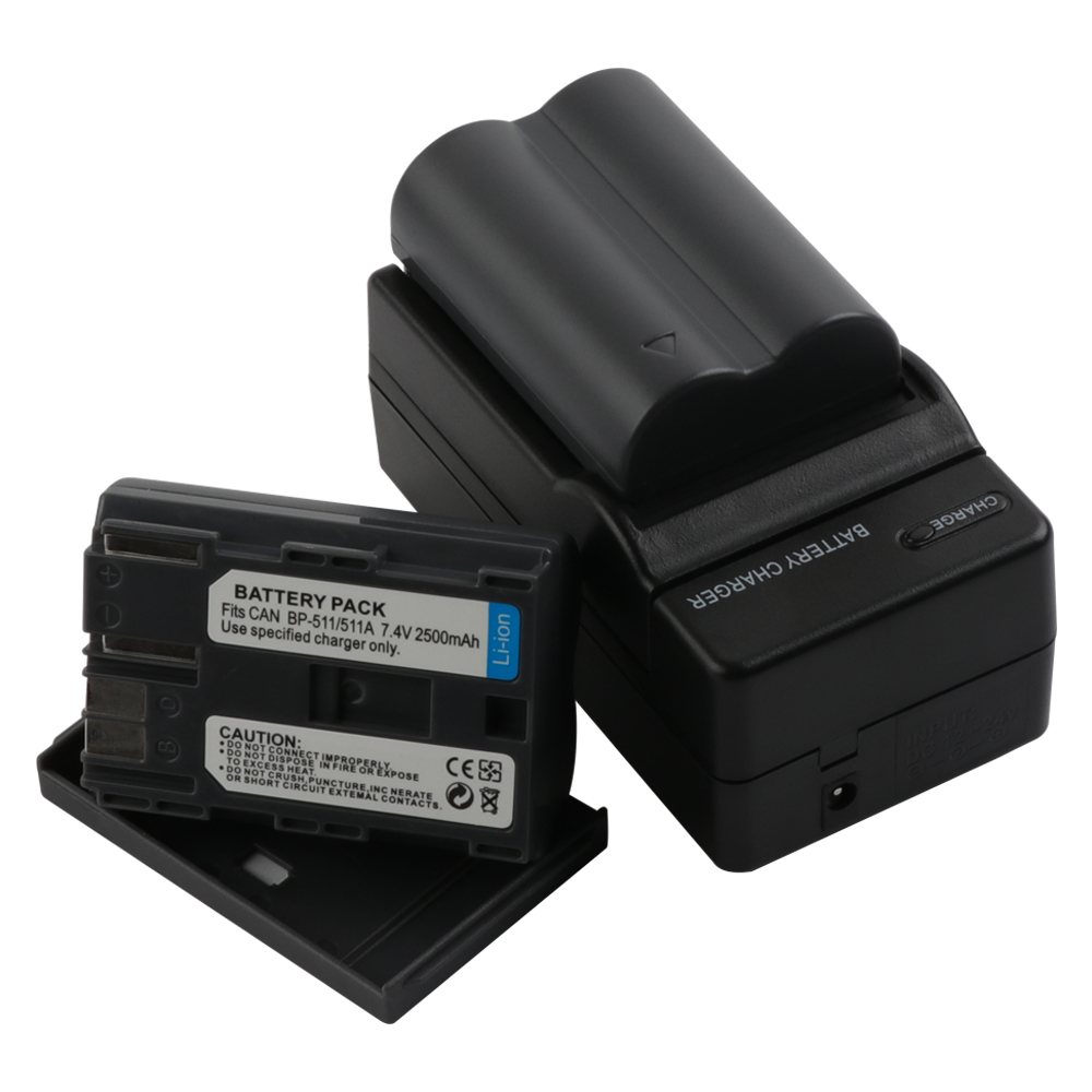 RP 2500mAh BP 511 BP 511A BP 511A for Camera Battery BP511 BP 511 For Canon EOS 40D 300D 5D 20D 30D 50D 10D D60 G6 L10 in Digital Batteries from Consumer Electronics