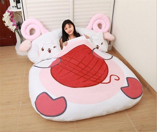 giant plush cartoon animal tatami. Black Bedroom Furniture Sets. Home Design Ideas