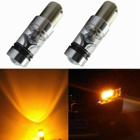 2Pcs Lot 75W High Power CREE 1156 BA15S 1141 7506 1004 Amber Yellow LED Lights Bulbs