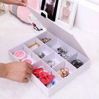 도매 한국어 버전 뚜껑 9 그리드 하위 그리드 스토리지 상자 무료/보석 상자/서랍 마무리 상자