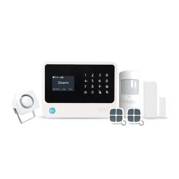 3G wifi professional home alarm APP control two way intercom smart intruder alarm 3g gsm wifi alarm system with PIR sensor