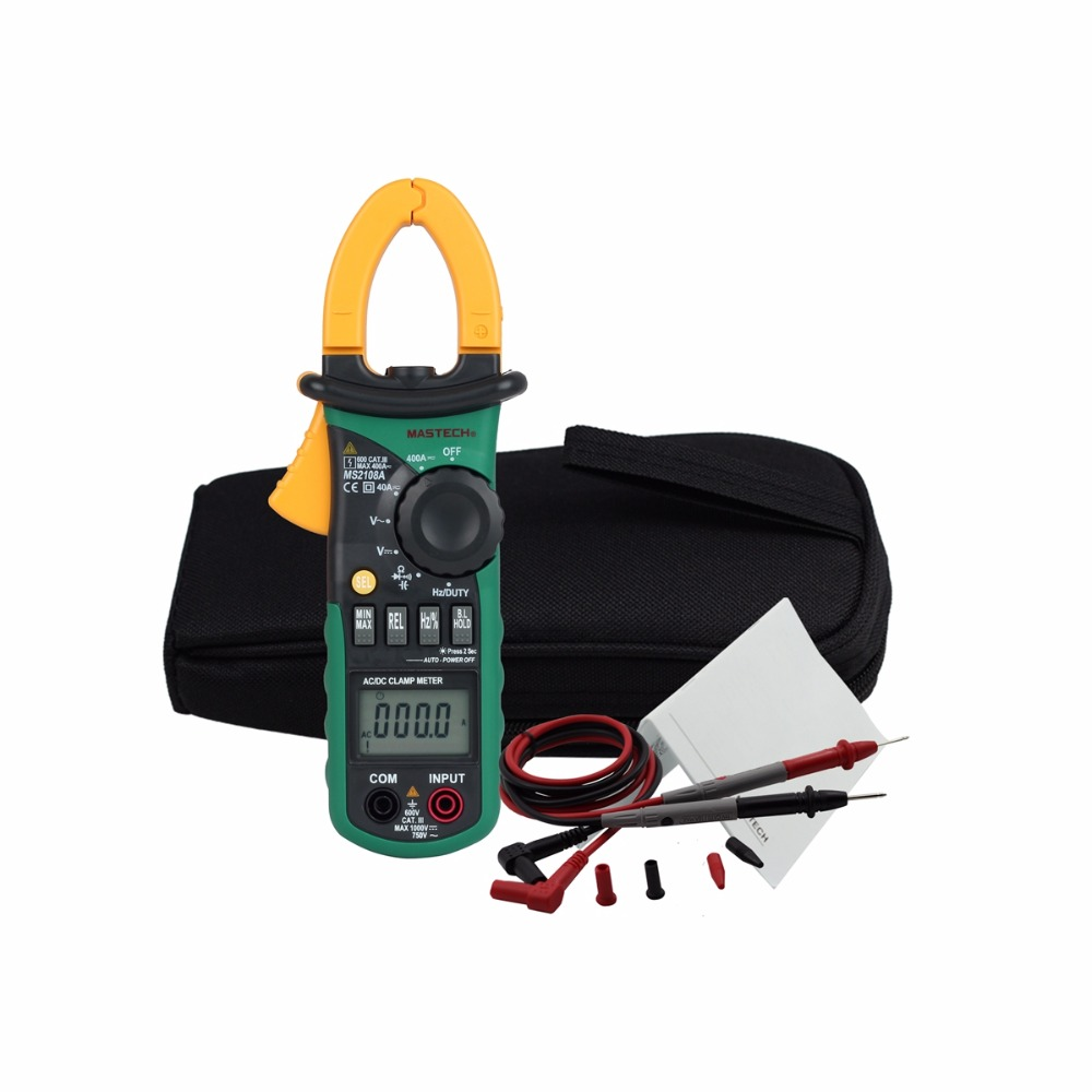 Auto Range Digital Multimeter Clamp Meter MS2108A Current Clamp Pincers ACDC Current Voltage Capacitor Resistance Tester Amper