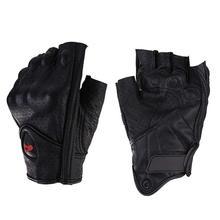 אופנוע כפפות עור קיץ לנשימה חצי אצבע כפפות יוניסקס מיט כפפת אצבעות לגברים נשים קטנוע Moto כפפה