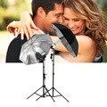 """1 stücke 83 cm 33 """"Foto Studio Flash Licht Körnig Schwarz Silber Regenschirm Reflektierende Reflektor Großhandel-in Durchlichtschirm aus Verbraucherelektronik bei"""