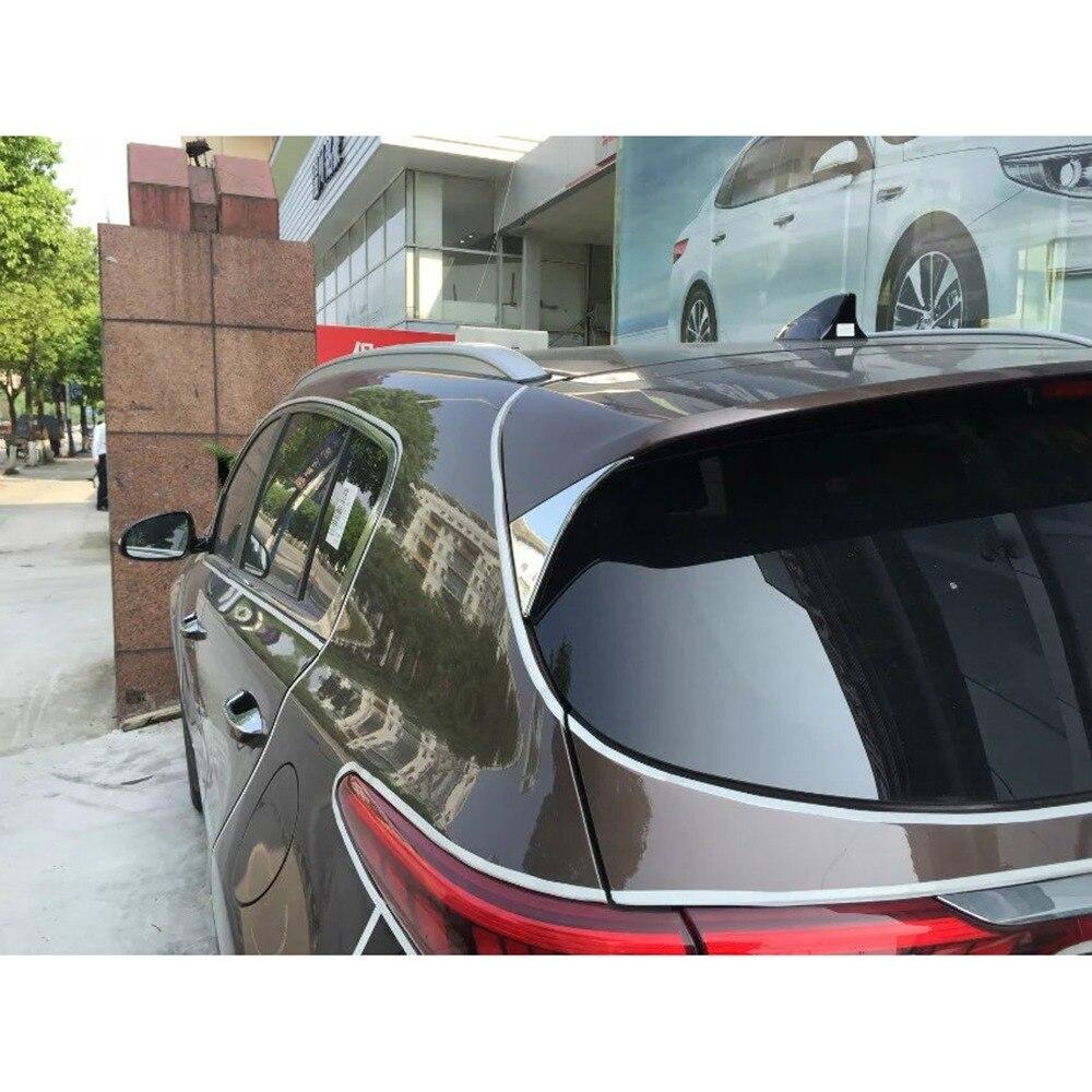Для Kia Sportage Kx5 2015-2018 Высокое качество ABS хромированная задняя крышка отделка авто-Стайлинг украшение блестки