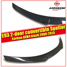 M4 Style Car Styling Carbon Fiber Auto Rear Spoiler Wing For BMW E93 2-door Convertible 325i 330i 335i Trunk 2006-2013
