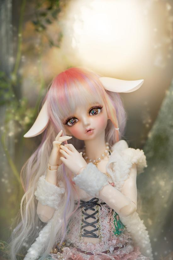 1/4  43CM BJD nude doll RIN include face up.,BJD/SD doll girl.not include clothes;wig;shoes and other access&ies 1 4 bjd dollfie girl doll parts single head include make up shang nai in stock