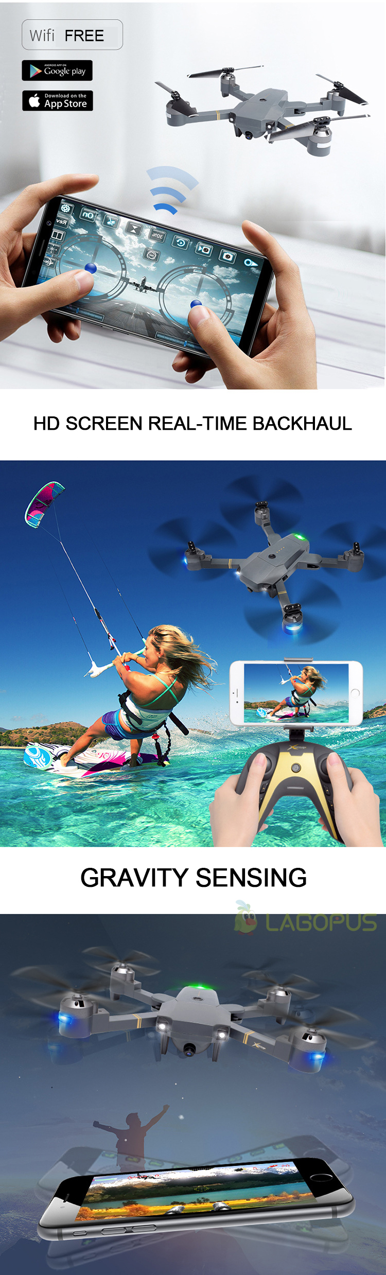 Lagopus XT-1 Plus 25 Mins Flight Duration 5MP FPV WIFI 1080P Drones with Camera HD Quadcopter Mini Drone Foldable Drone Dropship 4