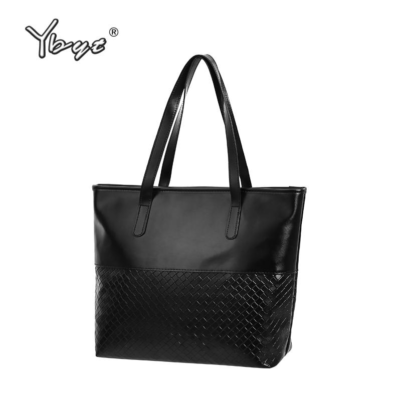 YBYT brand 2018 new PU leather women casual large totes diamond lattice simple shoulder bag hotsale female pouch ladies handbags