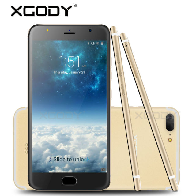 Xgody 5.5'' Android Phone 5.1 Quad Core Mobile Phone with Micro USB 8GB ROM 1GB RAM 3G Unlock Smartphone