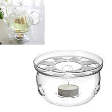 1 шт., прозрачный стеклянный термостойкий чайник, утеплитель, изоляционная база, портативный держатель для чайника, подставка для кофе, воды, чая, грелка, подсвечник