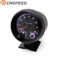 Free Shipping Tachometer 3 3 4 Black Color 0 8000 Rpm Gauge With Inter Shift Light