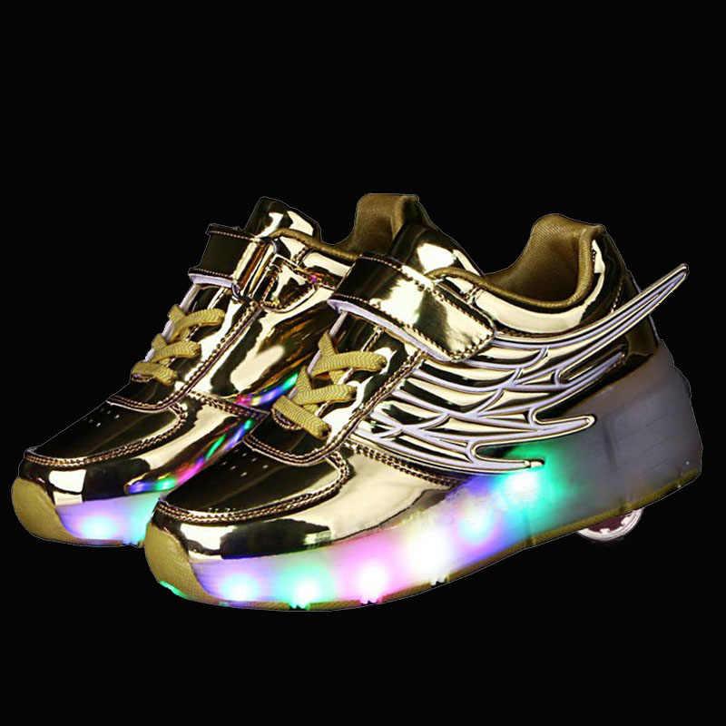 5b83ec90 Подробнее Обратная связь Вопросы о 2019 детская светящаяся обувь светящиеся  кроссовки с колесиками дети роликовые коньки, ботинки со светодиодной  подсветкой ...