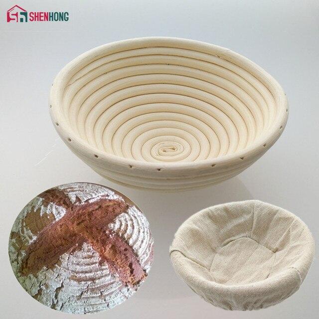 SHENHONG 4 Dimensioni Rattan Cestino Cestini Pasta Paese Fermentazione Del Pane